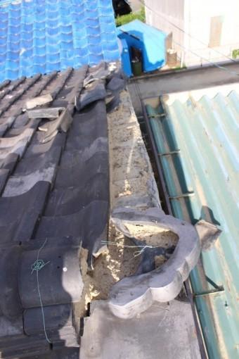 瓦屋根台風被害3
