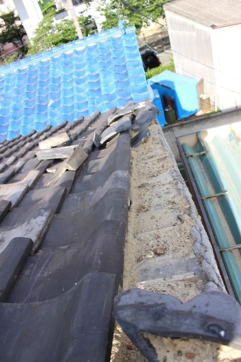 瓦屋根台風被害4