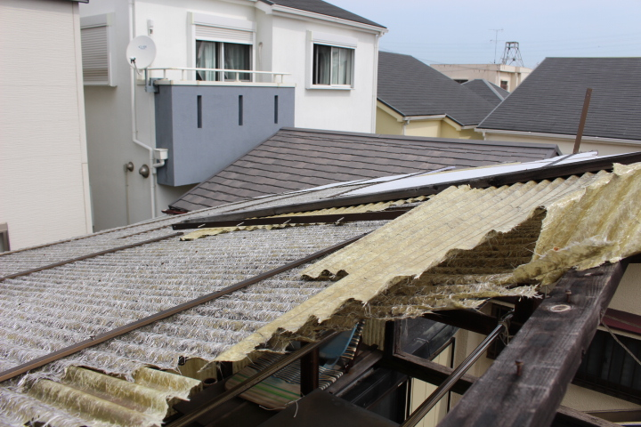 木製テラス屋根修理5