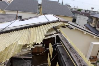 木製テラス屋根修理4