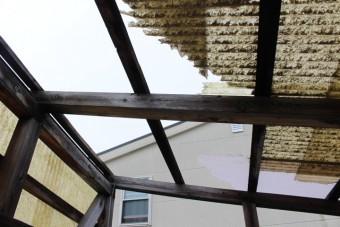 木製テラス屋根修理2