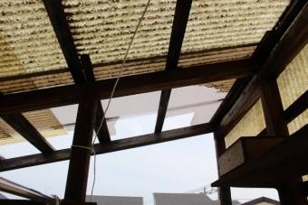 木製テラス屋根修理3