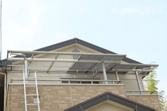 伊丹市テラス屋根修理1