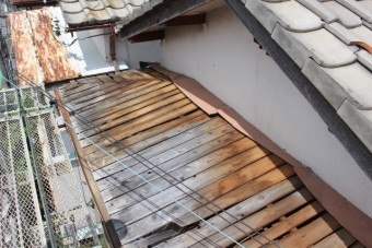 西宮市庇屋根修理4