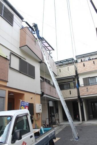 尼崎市3階テラス屋根3