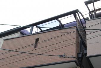 尼崎市3階テラス屋根8