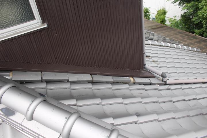 雨押え土居のし瓦修理1
