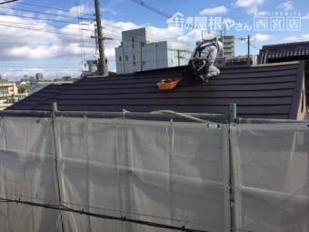 屋根職人作業風景