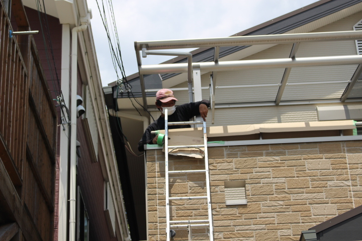 伊丹市テラス屋根修理4