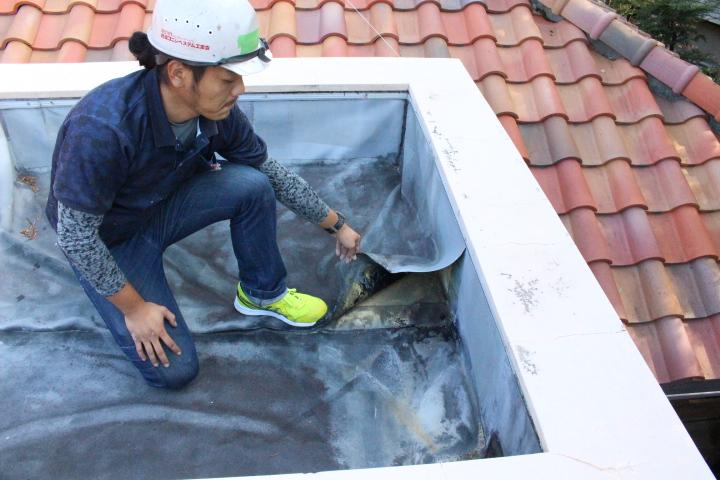防水シート修理1