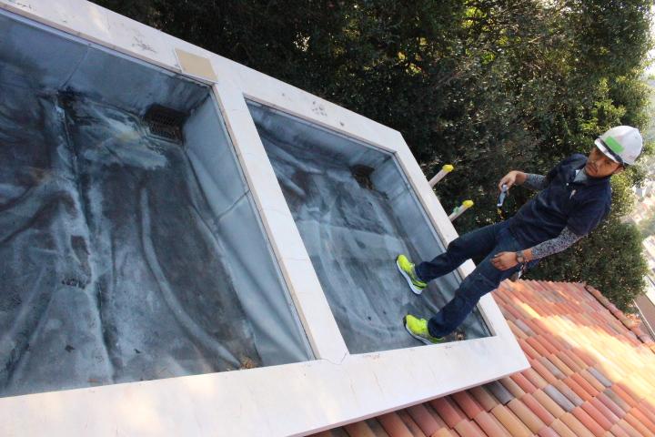 防水シート修理2