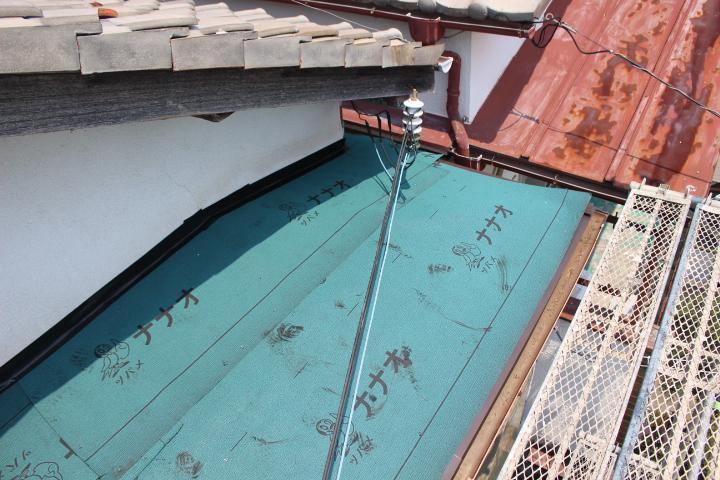 西宮市庇屋根修理7