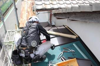 西宮市庇屋根修理10