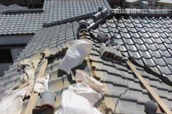 尼崎市瓦屋根棟修理4