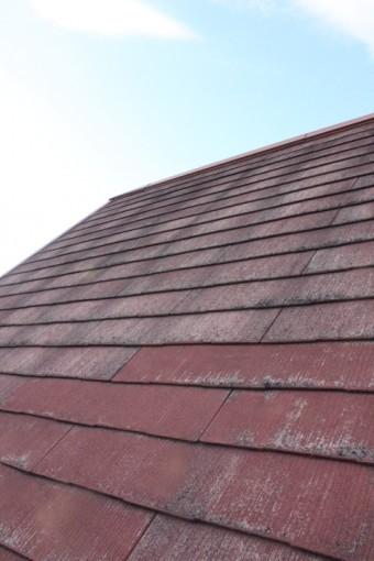 スレート屋根のカビ