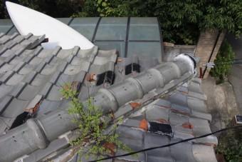 雨漏り軒天修理現場調査4