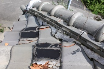 雨漏り軒天修理現場調査7