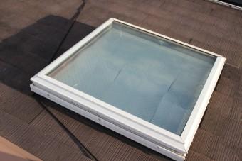 天窓ガラス修理下見4