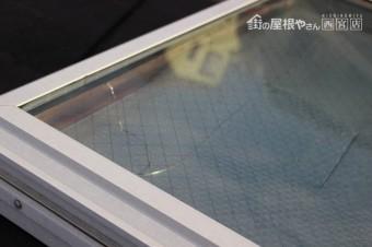 天窓ガラス修理下見1