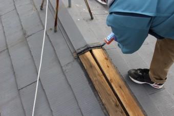 棟包み修理工事中3