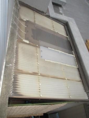 施工前テラス屋根