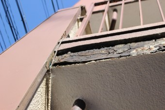 外壁修理現場調査5