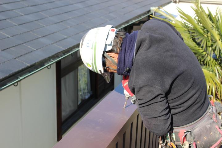 屋根葺き替え施工中5