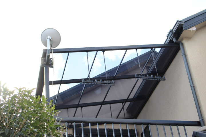 西宮市テラス屋根修理1