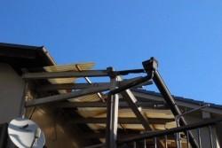 木製テラス修理前1