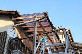木製テラス修理後1