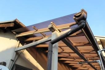 木製テラス修理中3