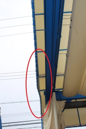 テント修理現場調査3