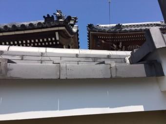 松阪市のお寺の鬼瓦