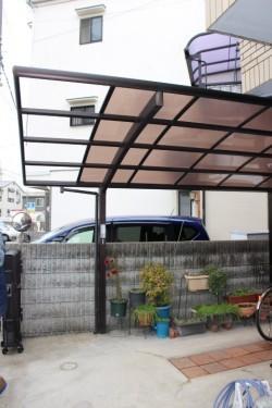 尼崎市カーポート屋根修理1