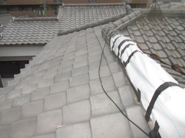尼崎市瓦屋根棟修理1