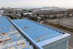 工場屋根塗装施工前3