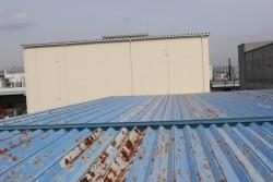 工場屋根塗装施工前2