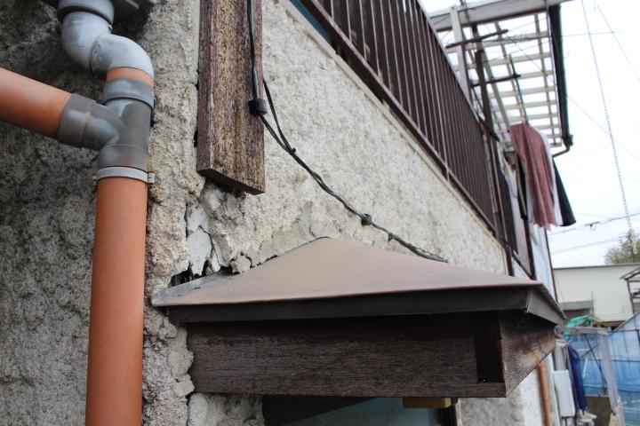 西宮市雨漏り外壁修理1