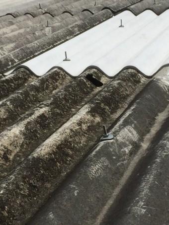 伊丹市倉庫屋根修理2