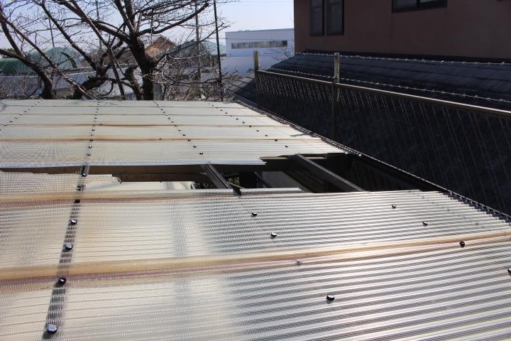 車庫屋根修理現場調査2