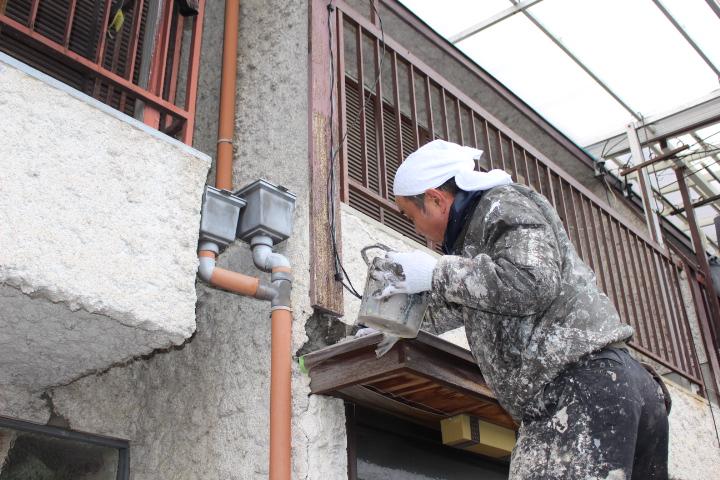 西宮市雨漏り外壁修理7