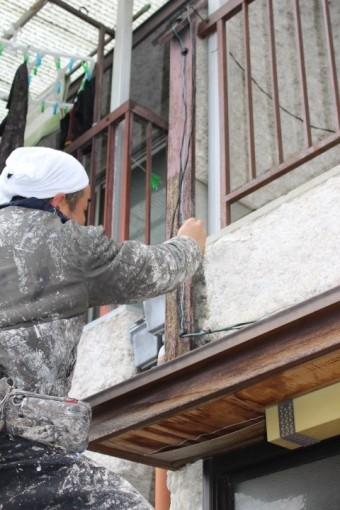 西宮市雨漏り外壁修理9
