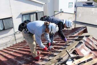屋根葺き替え工事1