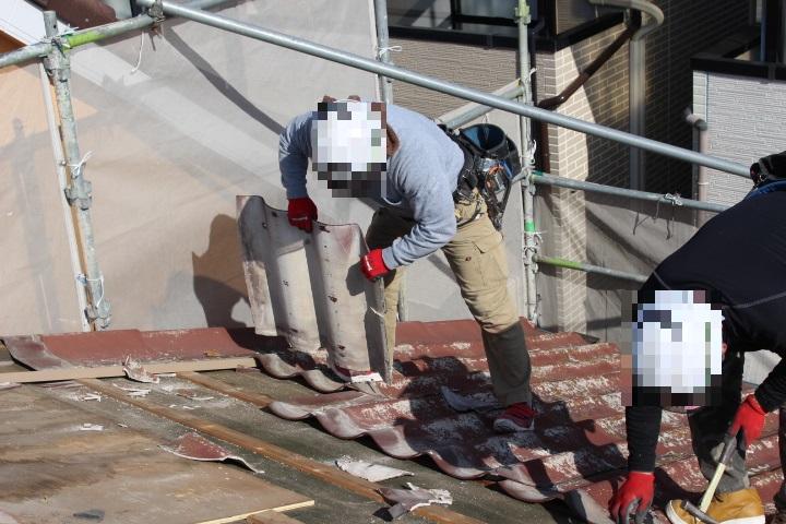 屋根葺き替え工事4