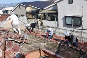 屋根葺き替え工事5