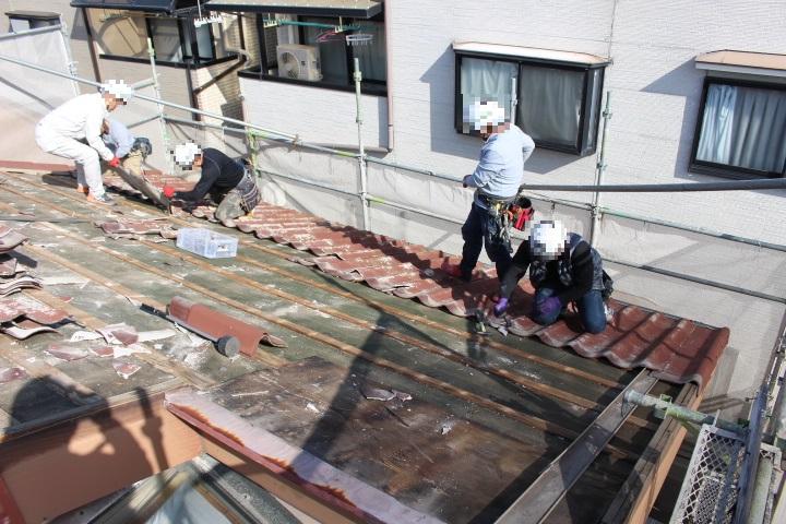 屋根葺き替え工事6