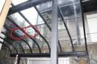 テラス屋根穴あき修理1