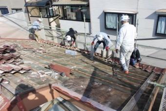 屋根葺き替え工事7