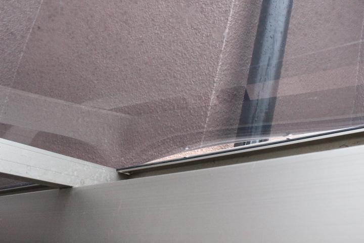 車庫屋根ポリカ板修理2