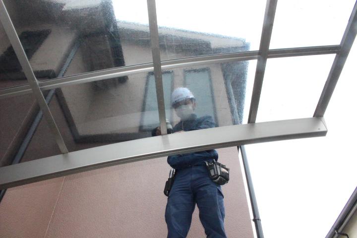 車庫屋根ポリカ板修理4